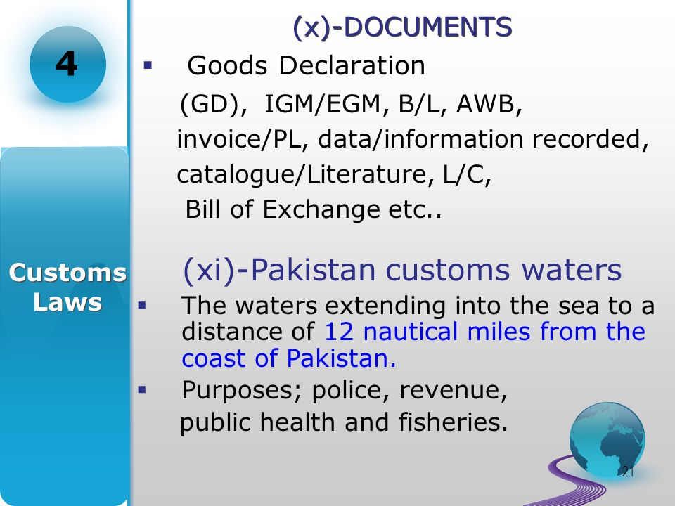 22 (xii)- EXPORT MENIFEST(EGM) Section 53 – Manifest specifying all goods to be exported.