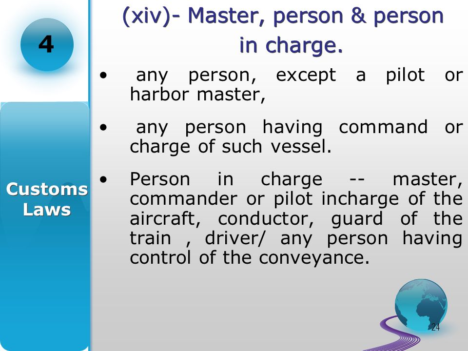 24 (xiv)- Master, person & person in charge.