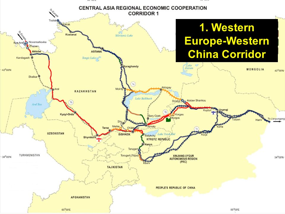 1. Western Europe-Western China Corridor