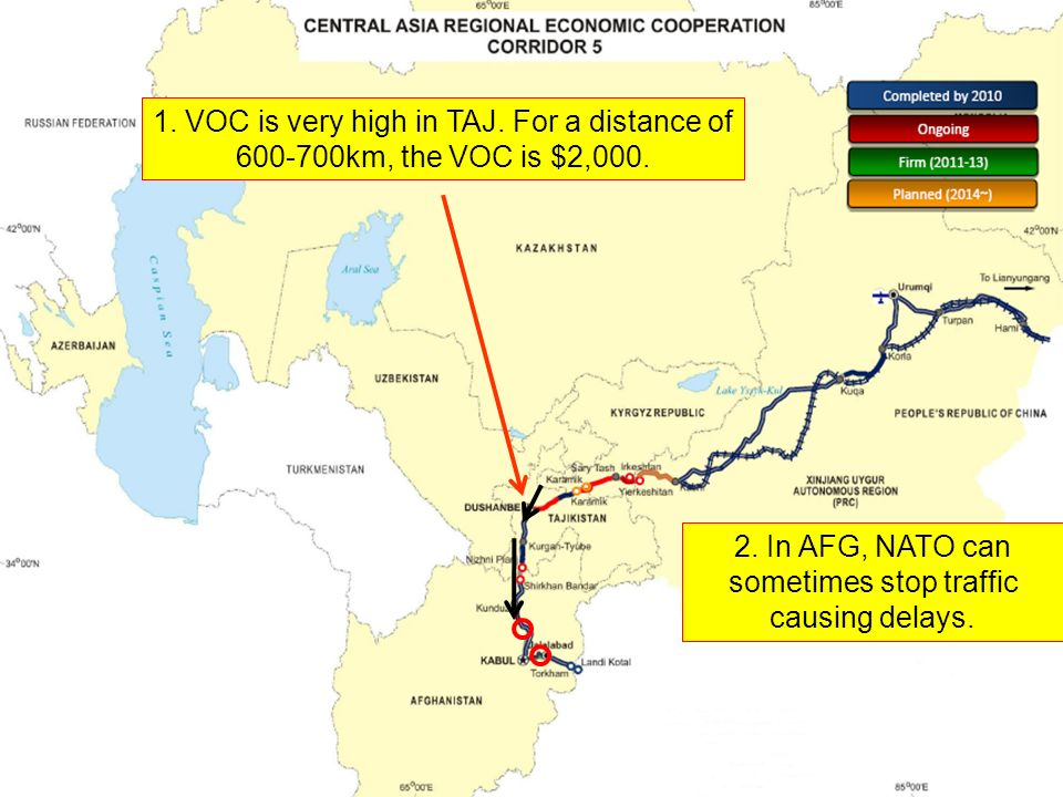 1. VOC is very high in TAJ. For a distance of 600-700km, the VOC is $2,000.