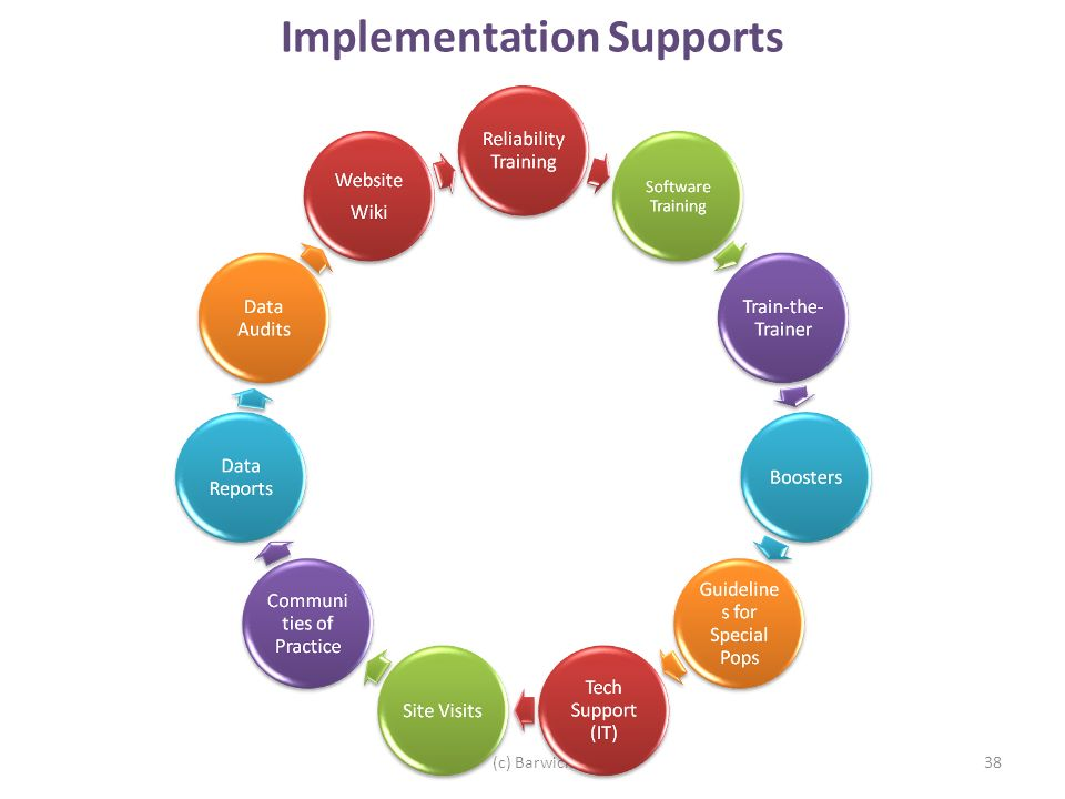 38 Implementation Supports (c) Barwick
