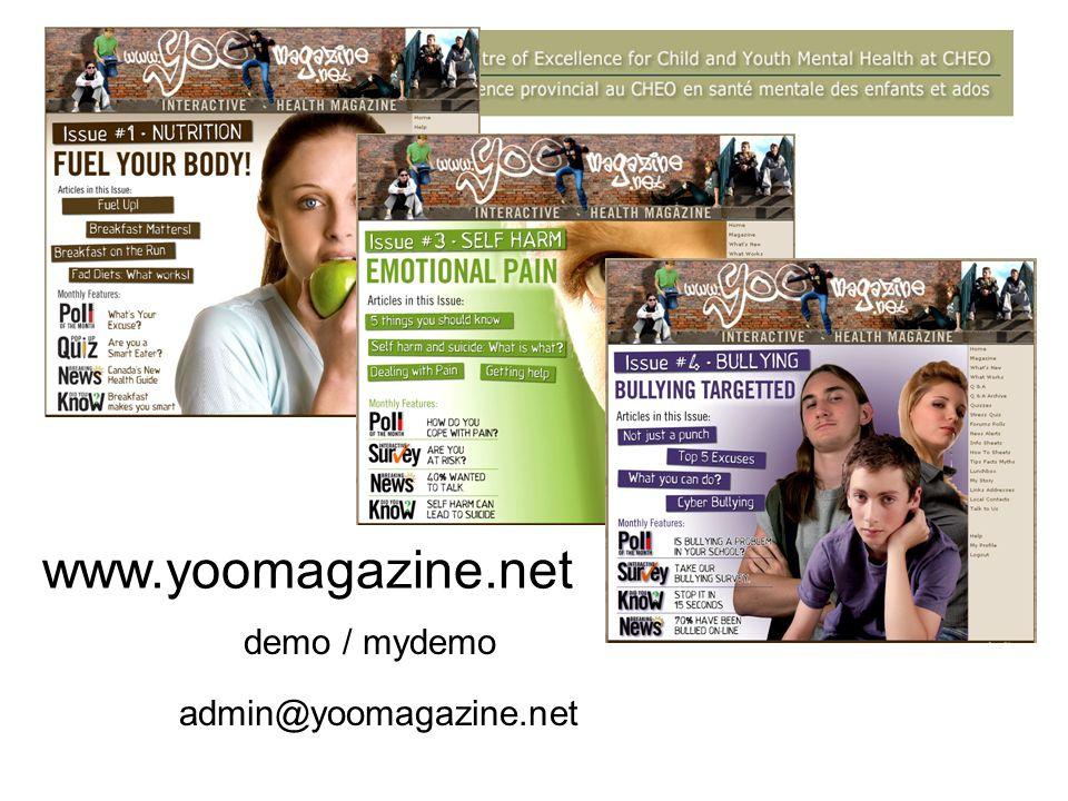 www.yoomagazine.net demo / mydemo admin@yoomagazine.net