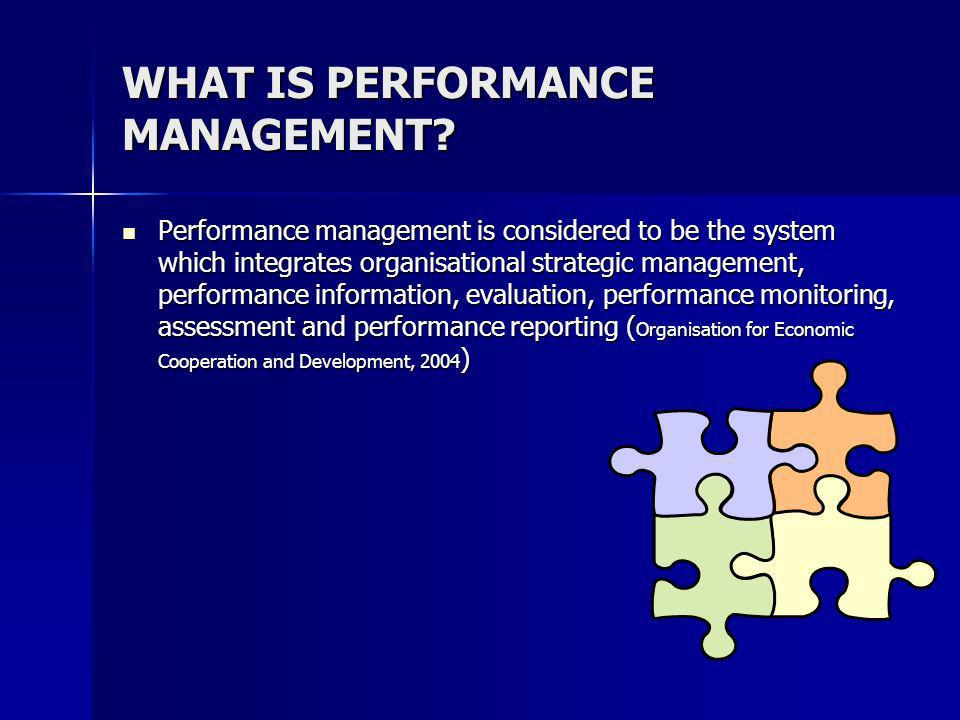 WHAT IS PERFORMANCE MANAGEMENT.