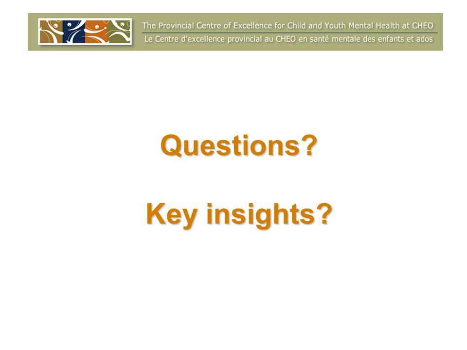 Questions Key insights