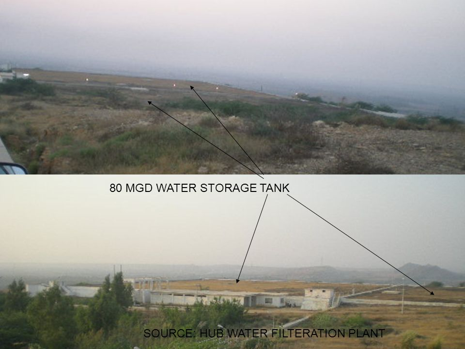 SOURCE: HUB WATER FILTERATION PLANT 80 MGD WATER STORAGE TANK