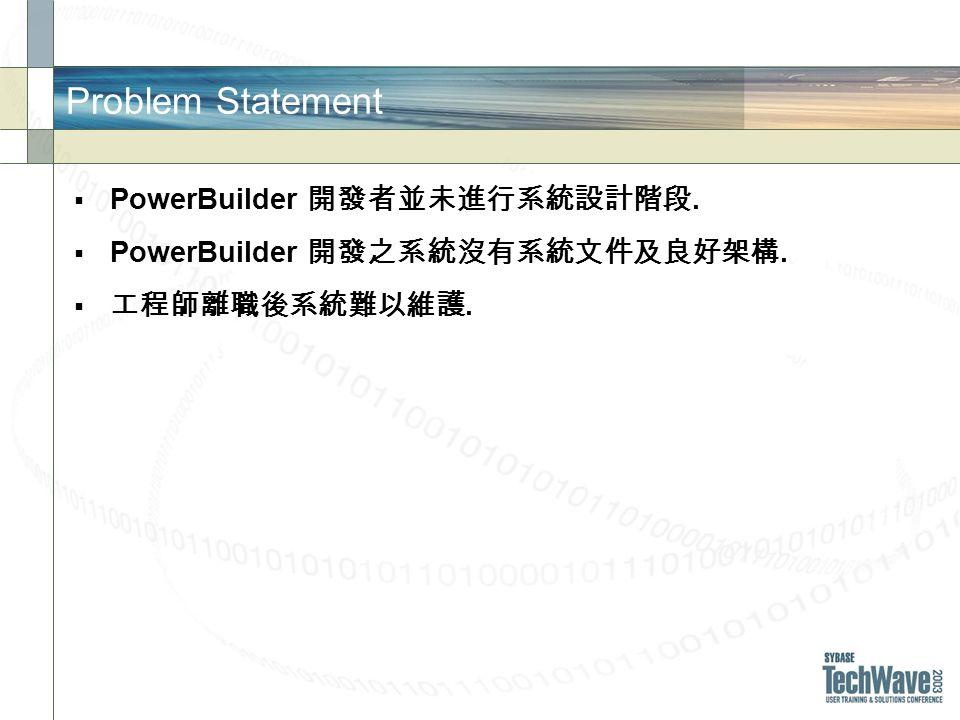 Problem Statement PowerBuilder..