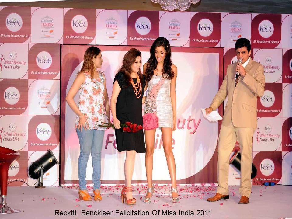 Reckitt Benckiser Felicitation Of Miss India 2011