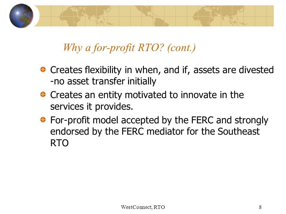 WestConnect, RTO8 Why a for-profit RTO.