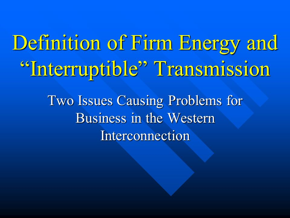 Interruptible Transmission FERC tariff does not have a service schedule called interruptible transmission.