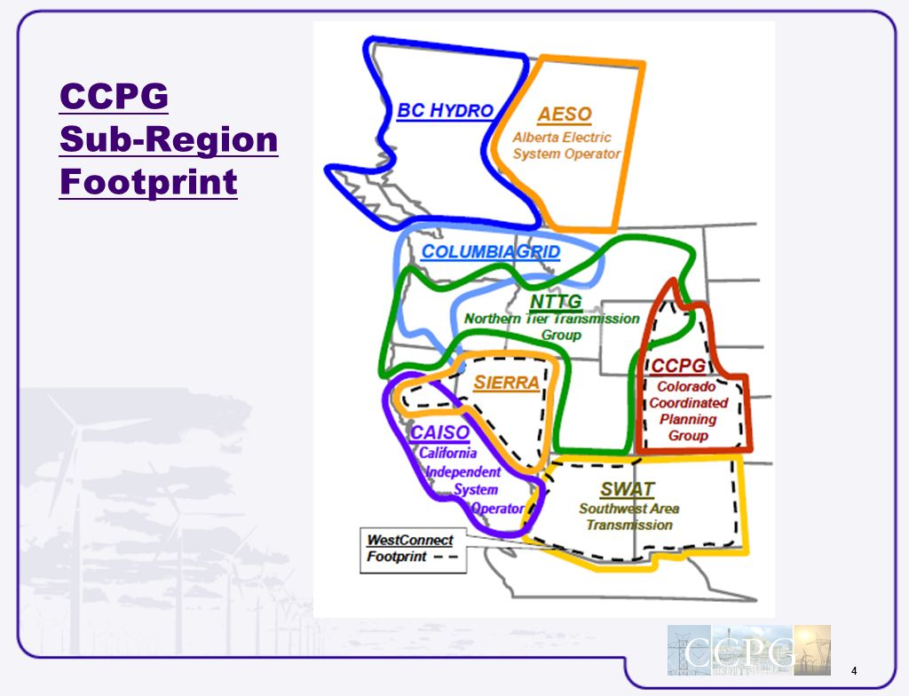 4 CCPG Sub-Region Footprint