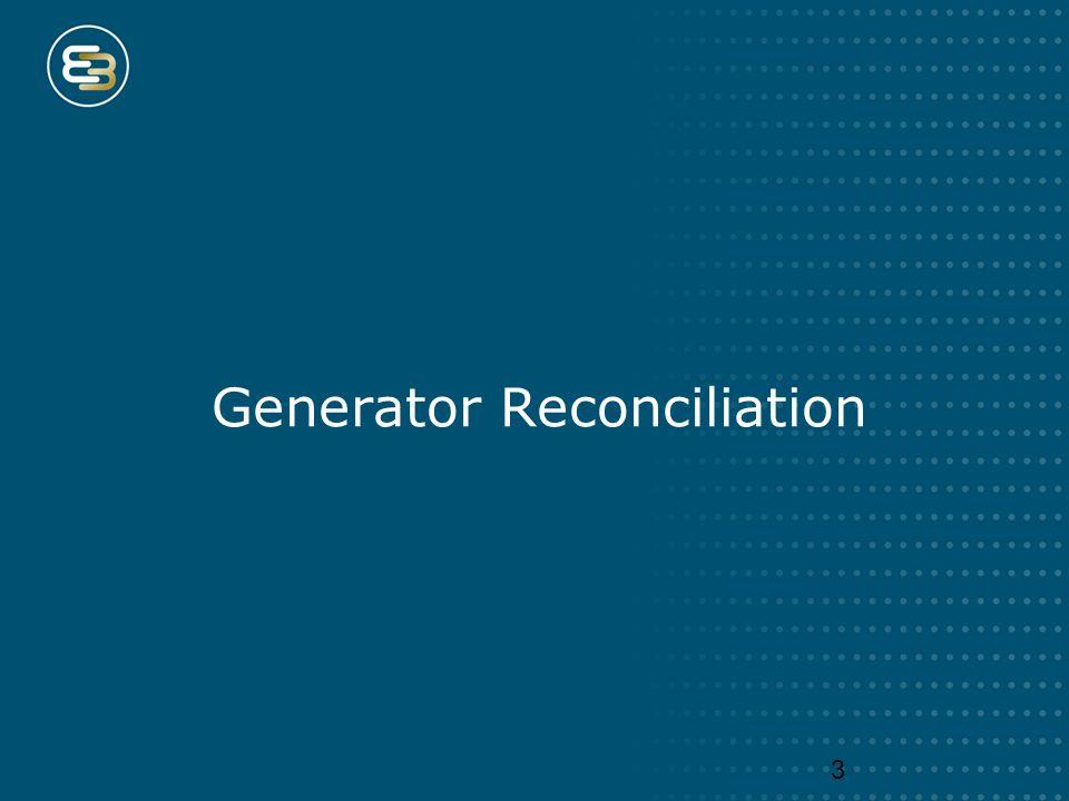 Generator Reconciliation 3