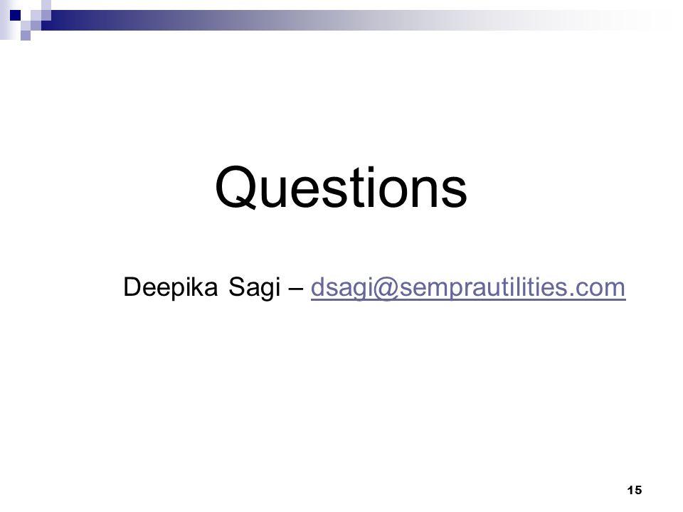 15 Questions Deepika Sagi – dsagi@semprautilities.comdsagi@semprautilities.com