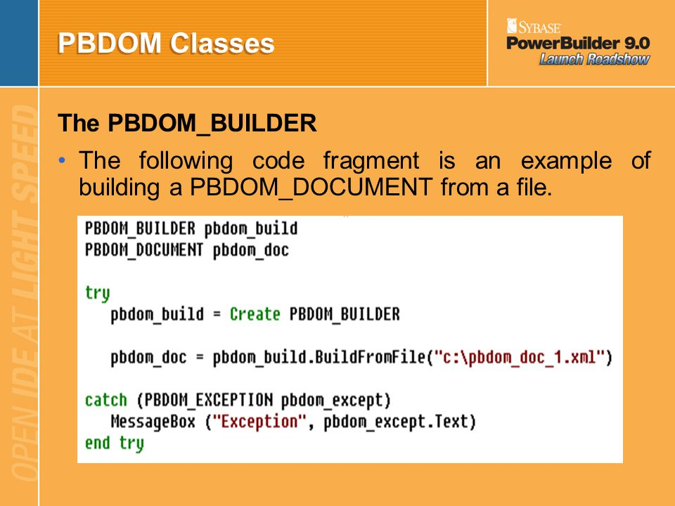 PBDOM Overview pbdom_builder pbdom_exception pbdom_object pbdom_attribute pbdom_characterdata pbdom_comment pbdom_text pbdom_cdata pbdom_doctype pbdom