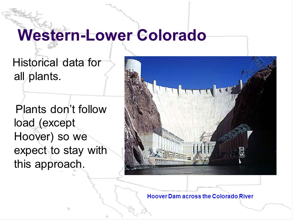 Western-Lower Colorado Historical data for all plants.