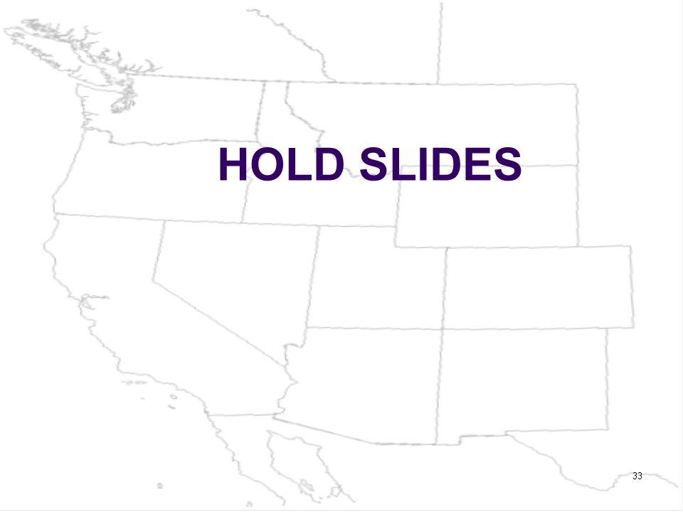 HOLD SLIDES 33
