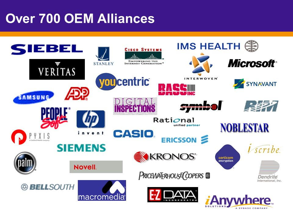 Over 700 OEM Alliances