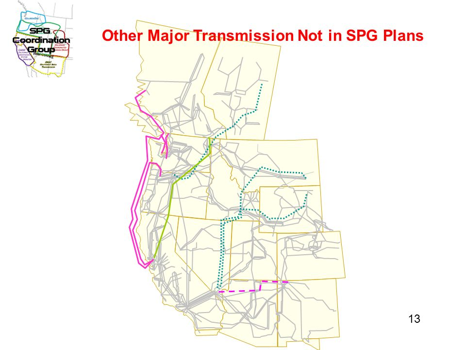 Other Major Transmission Not in SPG Plans 13
