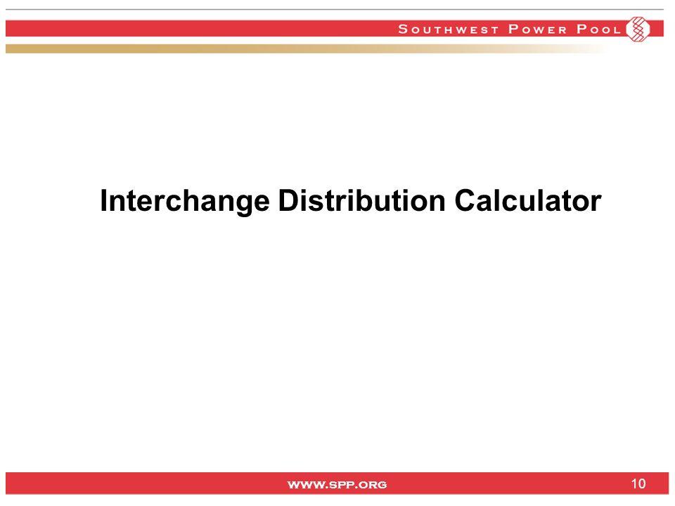 www.spp.org Interchange Distribution Calculator 10