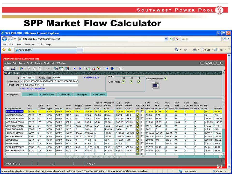 www.spp.org SPP Market Flow Calculator 56