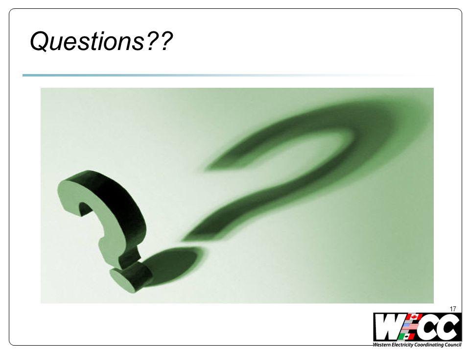 Questions?? 17