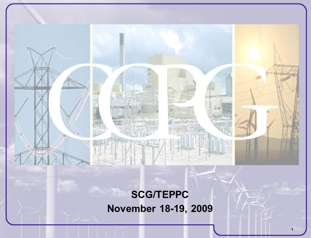 1 SCG/TEPPC November 18-19, 2009