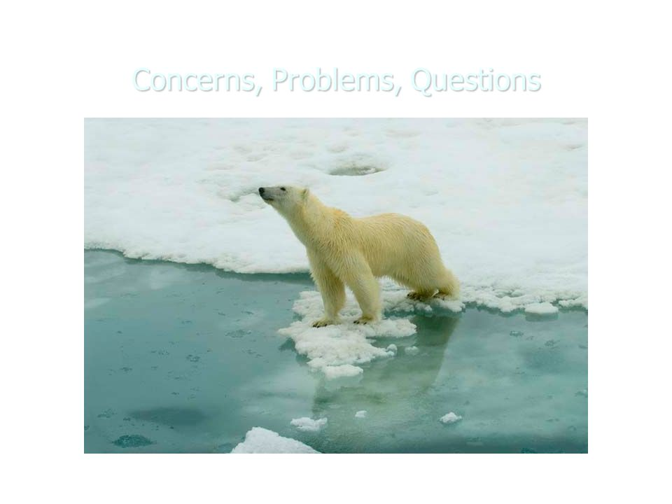 Concerns, Problems, Questions