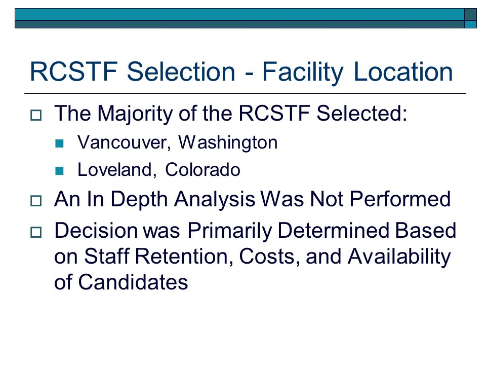 Board RC Strategy Facility Location Motion