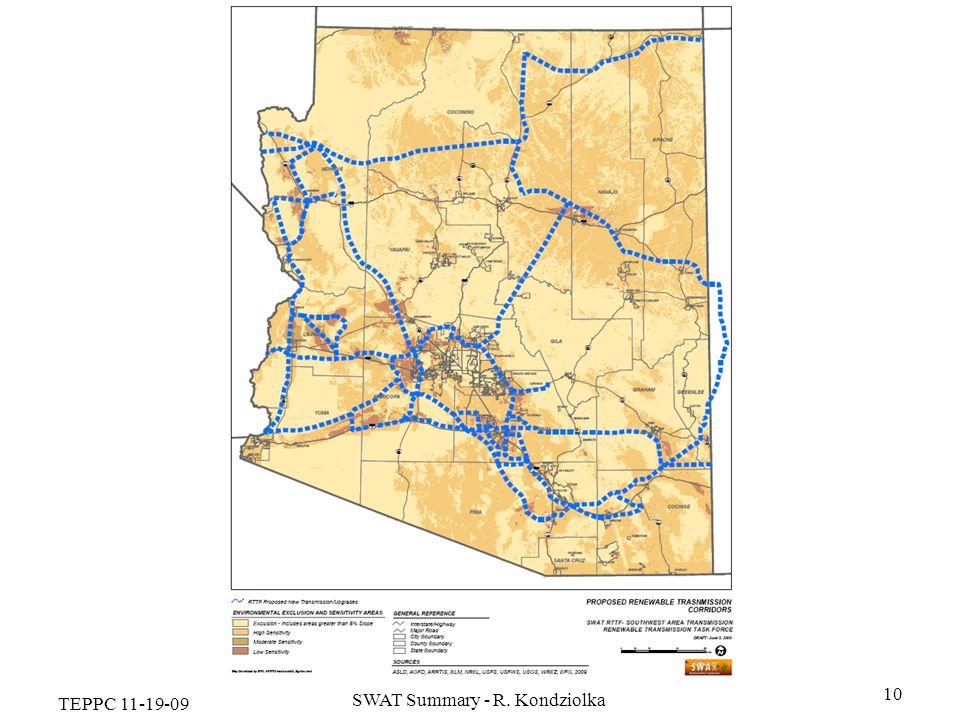 TEPPC 11-19-09 SWAT Summary - R. Kondziolka 10