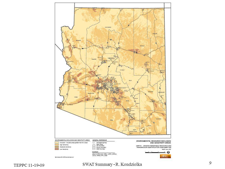 TEPPC 11-19-09 SWAT Summary - R. Kondziolka 9