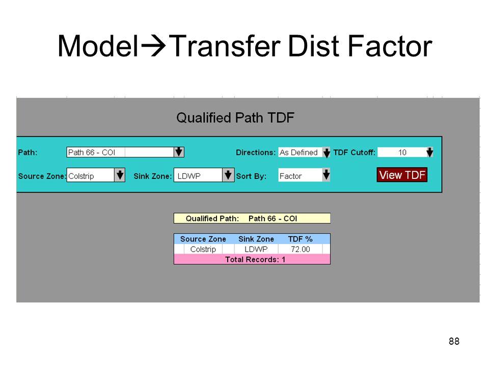 88 Model Transfer Dist Factor