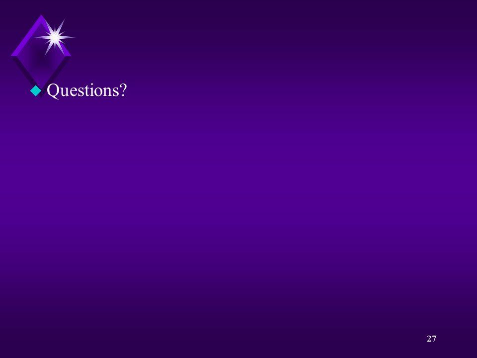 27 u Questions