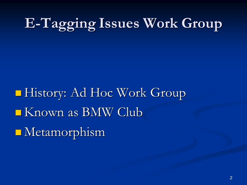 13 E-Tagging Issues Work Group Resolution Status: Resolution Status: The NERC IDC Work Group was contacted and made aware of the problem.