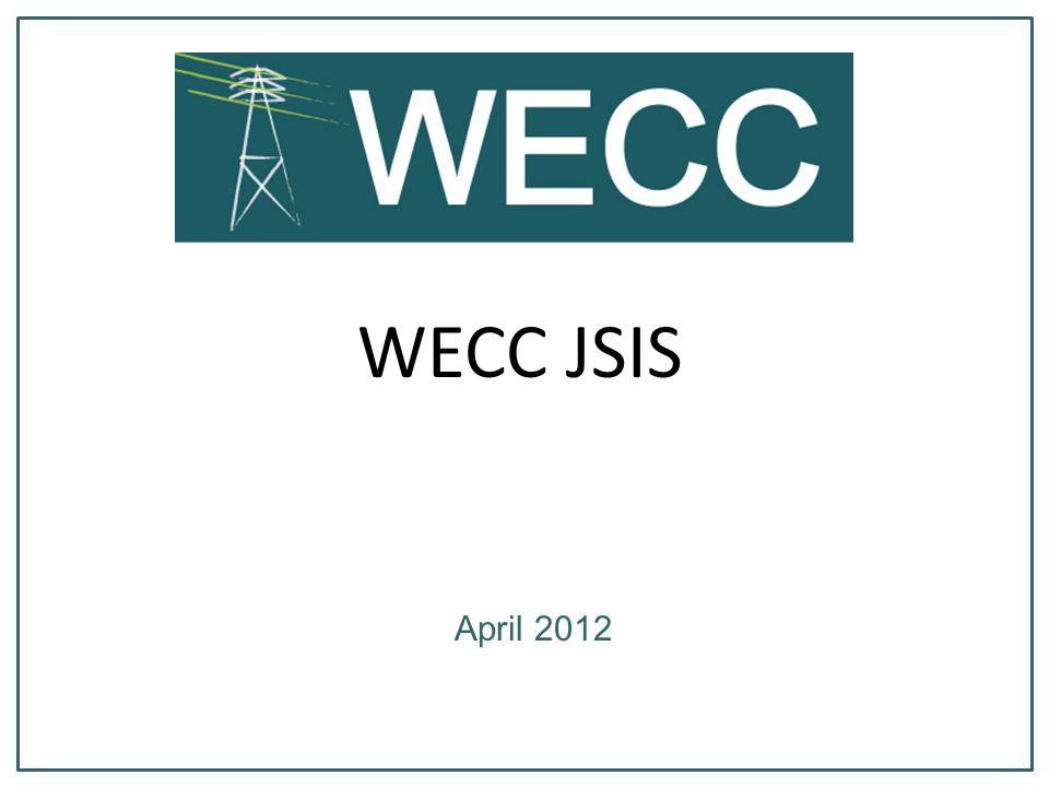 WECC JSIS April 2012