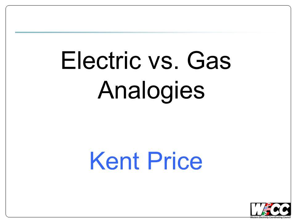 Electric vs. Gas Analogies Kent Price