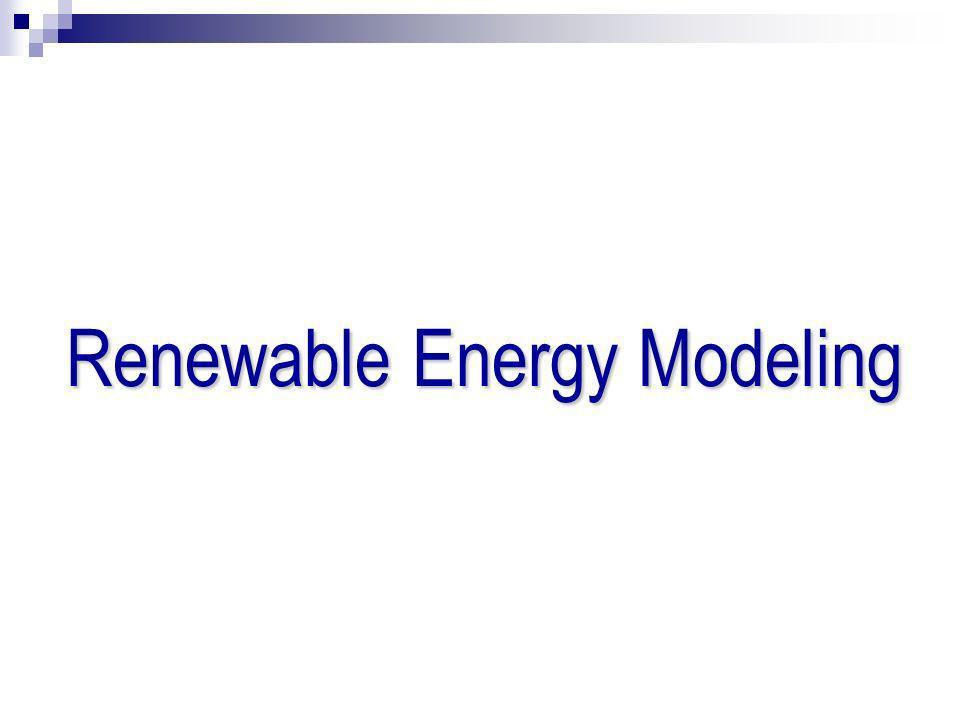 Renewable Energy Modeling