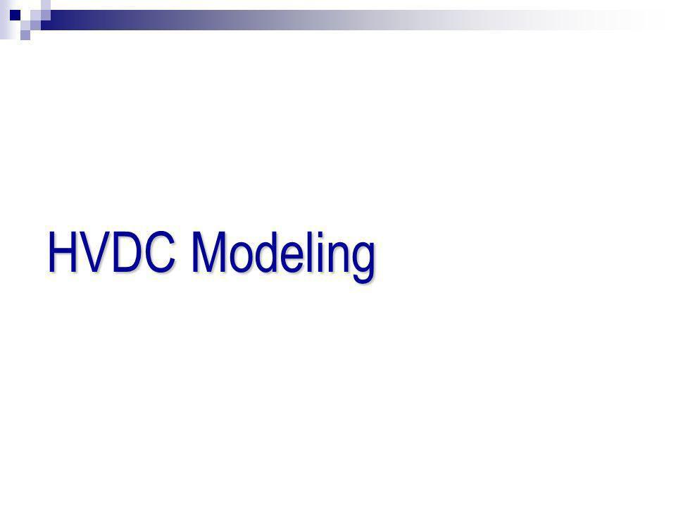 HVDC Modeling