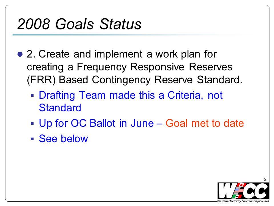 5 2008 Goals Status 2.