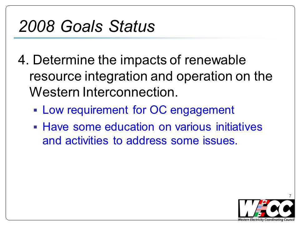 7 2008 Goals Status 4.