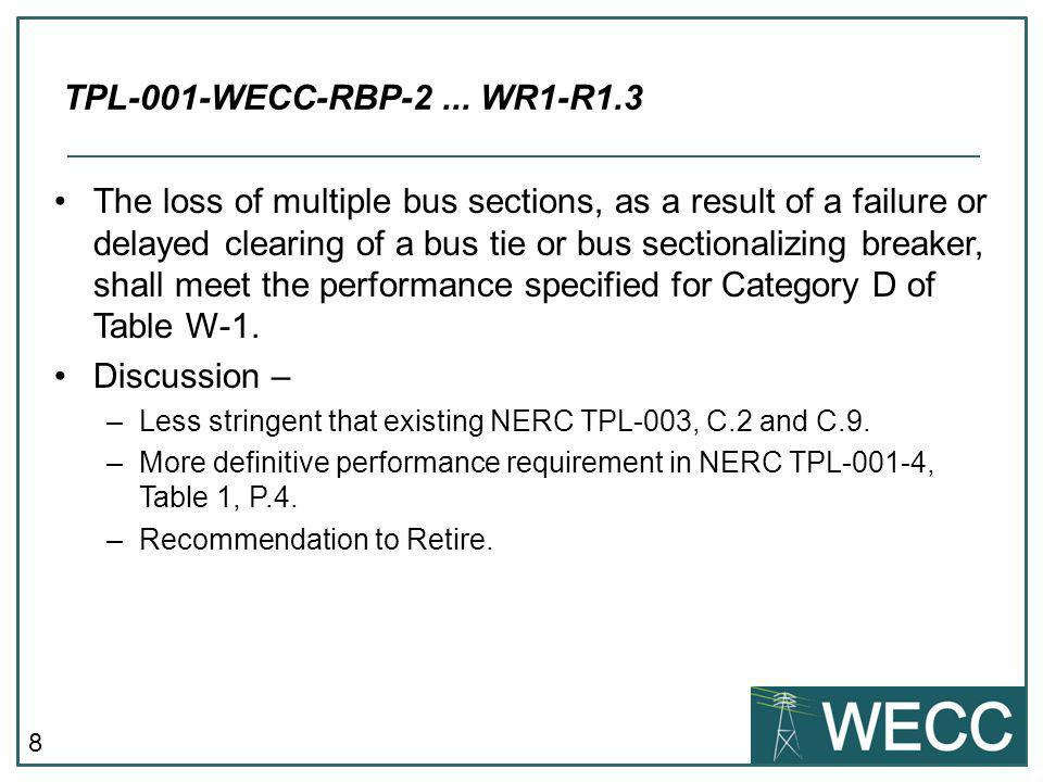 8 The loss of multiple bus sections, as a result of a failure or delayed clearing of a bus tie or bus sectionalizing breaker, shall meet the performan