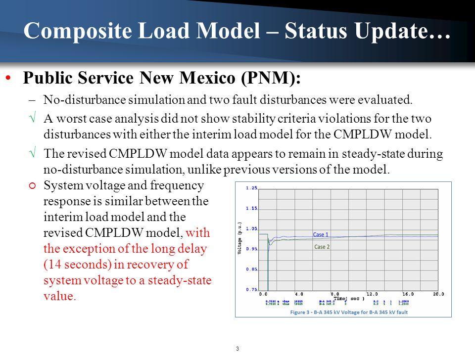 Public Service New Mexico (PNM): –No-disturbance simulation and two fault disturbances were evaluated.
