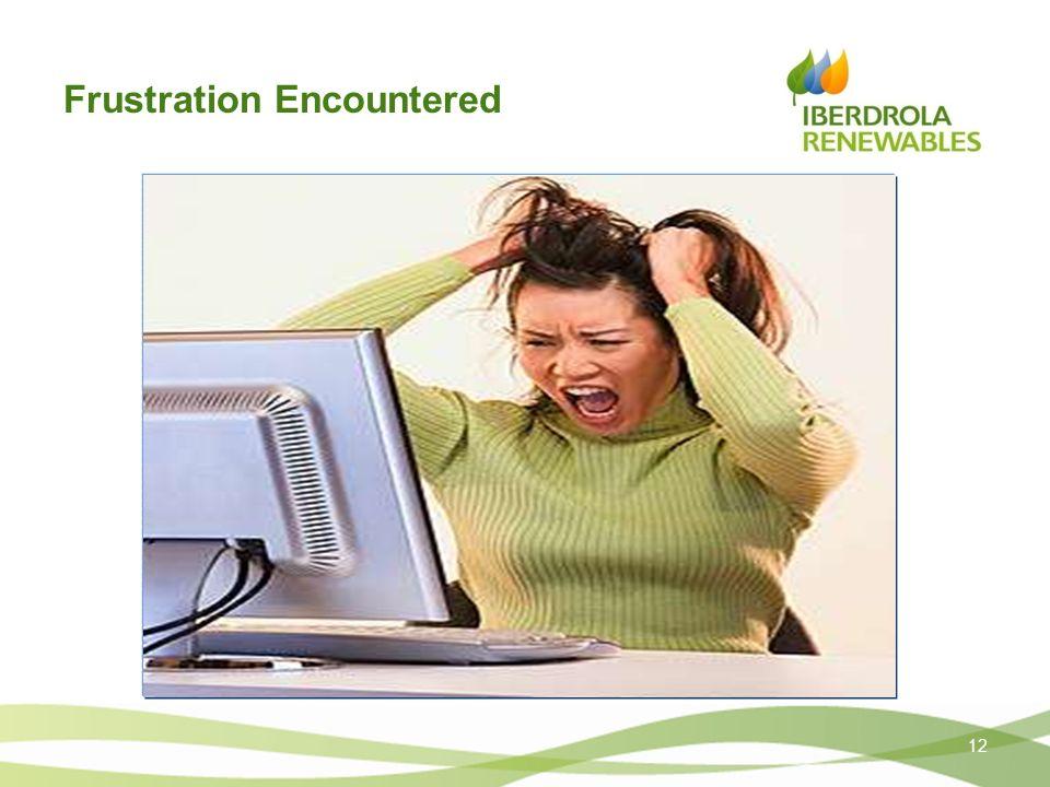 Frustration Encountered 12