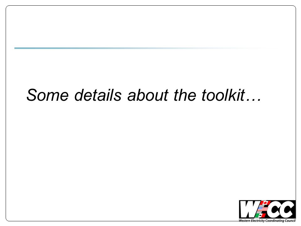 Some details about the toolkit…