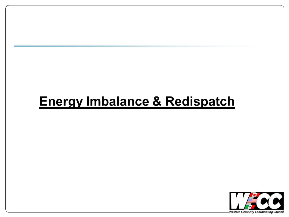 Energy Imbalance & Redispatch