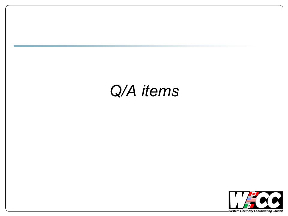 Q/A items