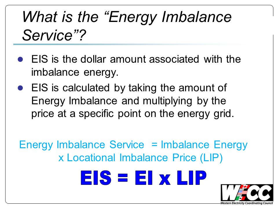 What is the Energy Imbalance Service.