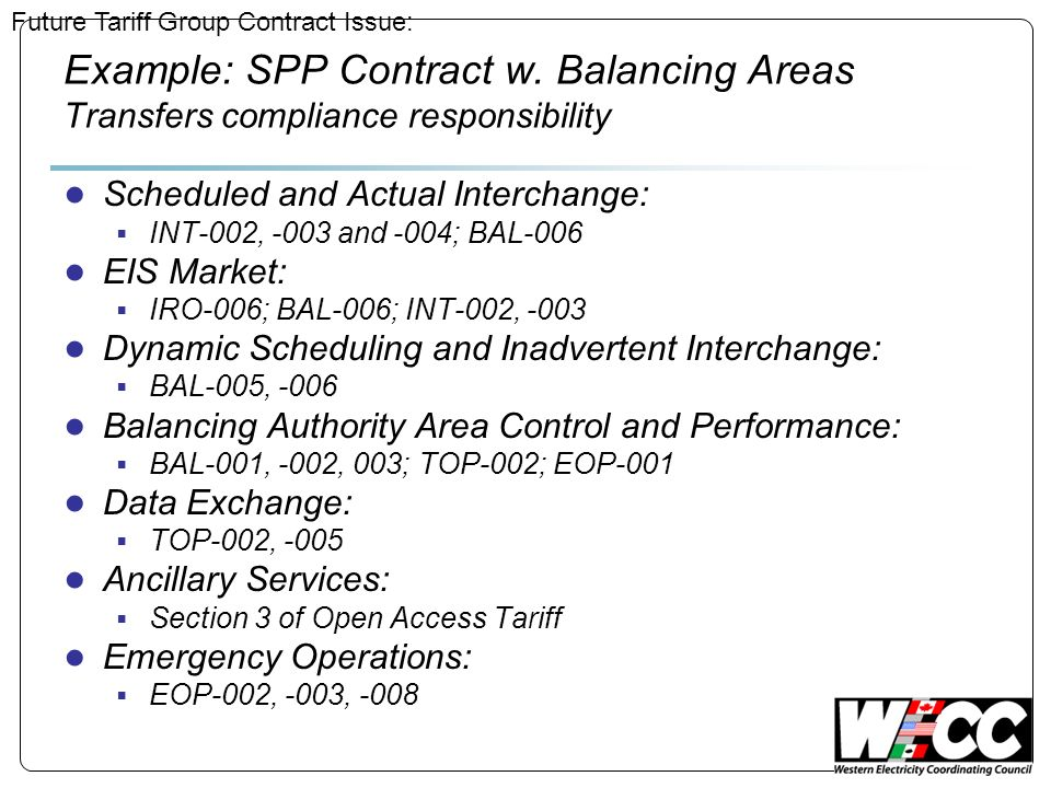 Example: SPP Contract w.