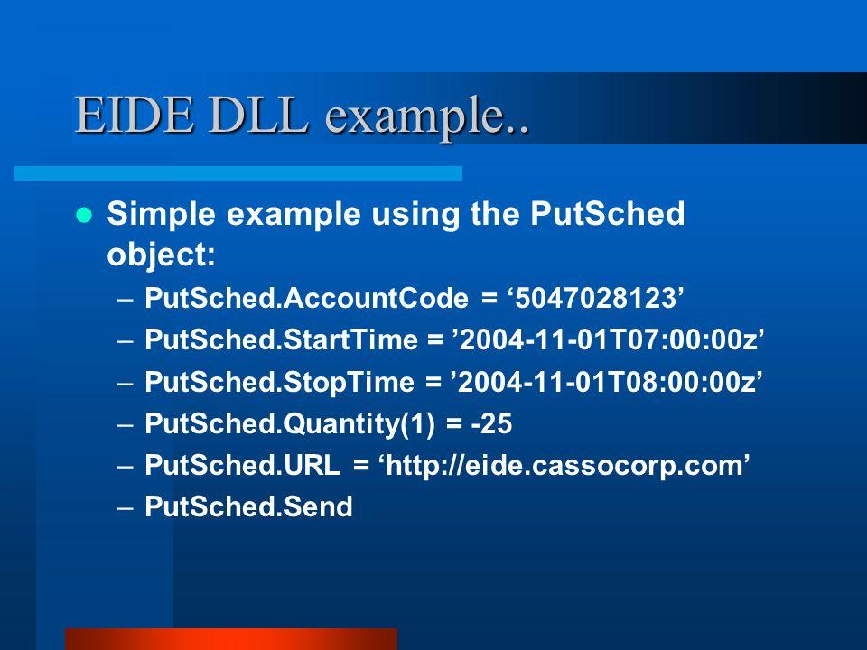 EIDE DLL example..