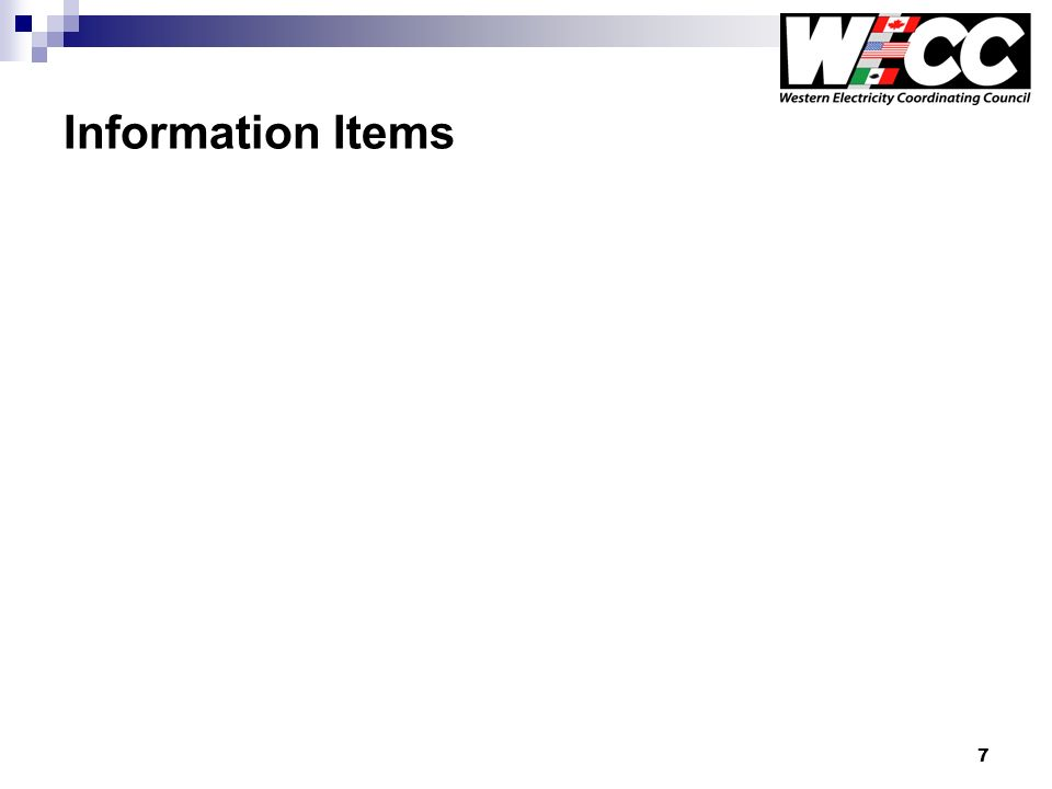7 Information Items