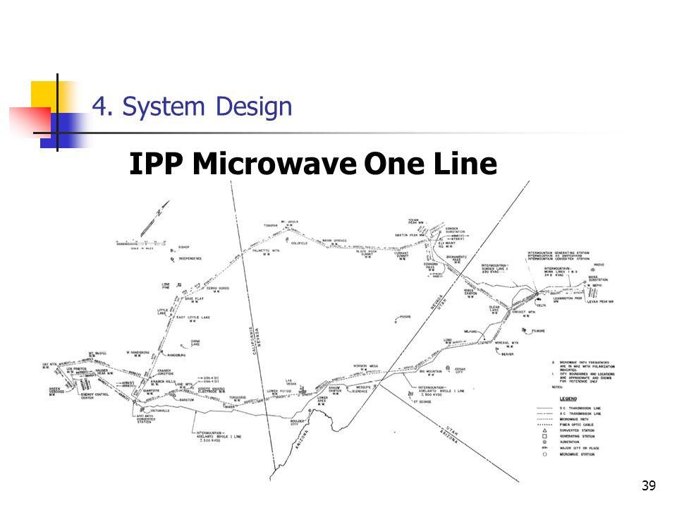 39 4. System Design IPP Microwave One Line