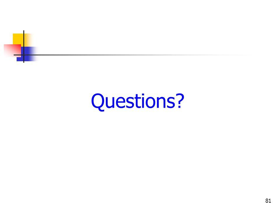 81 Questions?
